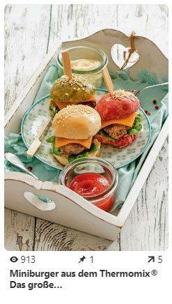 Pinterest Agentur Augsburg Pin Mini Burger