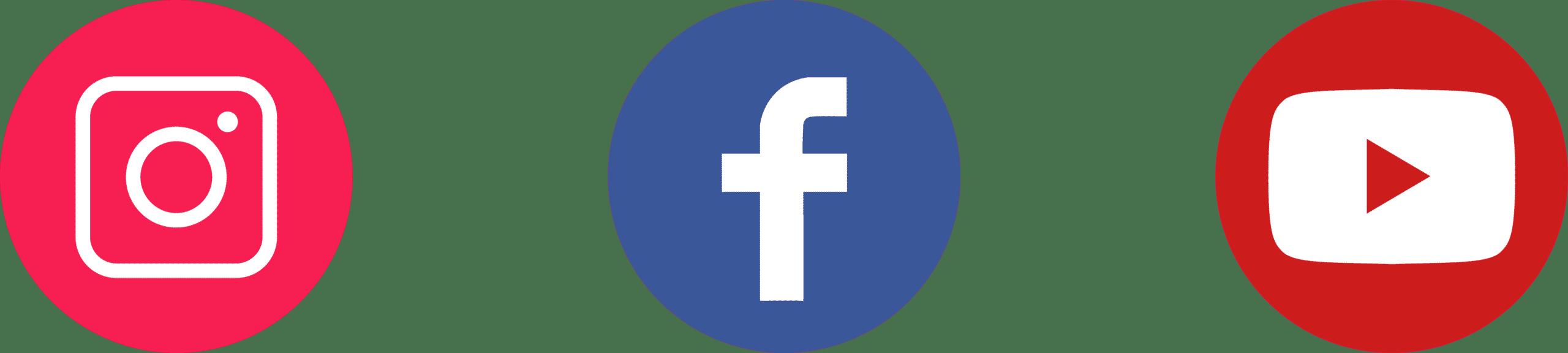 Social Media Logos Instagram Facebook Youtube Icons