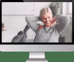 Social Media Rockets iMac Bildschirm responsive